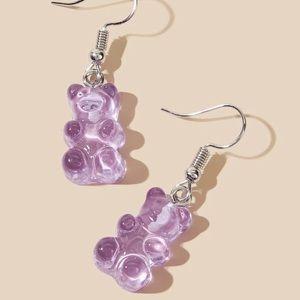⭕️ 3/$20! Purple gummy bear earrings